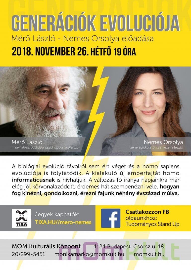 Generációk evolúciója | Mérő László és Nemes Orsolya előadása